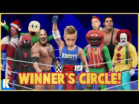 KIDCITY WINNERS CIRCLE {All Star WWE 2k19 Royal Rumble Winners Match!) KIDCITY GAMING