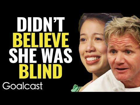 INSPIRING BLIND CHEF Makes Gordon Ramsay EAT HIS WORDS! | Christine Ha | Goalcast