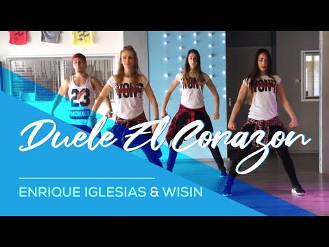 "fitness dance zumba con enrique iglesias - ""duele el corazon"""
