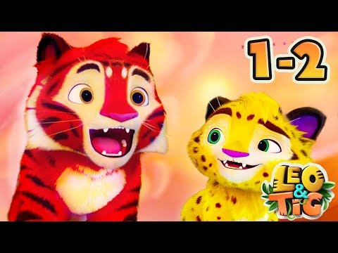 Leo and Tig - All episodes compilation (1-2) Animated movie - Super ToonsTV