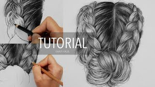 In this tutorial I show how to draw realistic hair (braids) and which drawing materials I use. ↓DRAWING MATERIALS:ClaireFontaine Pastelmat paper: https://goo.gl/1jEXxUBlack Charcoal pencil 2B: https://goo.gl/dRSg41White pastel pencil: https://goo.gl/BcKOLqEraser Pencil 7056: https://goo.gl/VUxGfU❯ Subscribe here! http://bit.ly/EmmyKaliaWHAT I USE TO FILM:Tripod: https://goo.gl/0MttWuCamera: https://goo.gl/3o6a4oLights: https://goo.gl/IaMg4v❯ More about me:• FAQ:  http://emmykalia.com/faq• Support: https://patreon.com/emmykalia• Shop: https://www.etsy.com/shop/emmykalia• Facebook: https://www.facebook.com/emmykalia• Instagram: https://instagram.com/emmykaliaMusic: Benny Martin Piano (piano instrumental cover) - Adele - All I ask, Glen Hansard - Falling Slowly, Beatles - Here comes the sun, BenFolds - The Luckiest, Van Morrison - Have I told you lately, Josh Groban - The prayer.Music License: https://creativecommons.org/licenses/by/3.0/