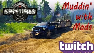 SpinTires:  Muddin' with Mods - Ford F-350!