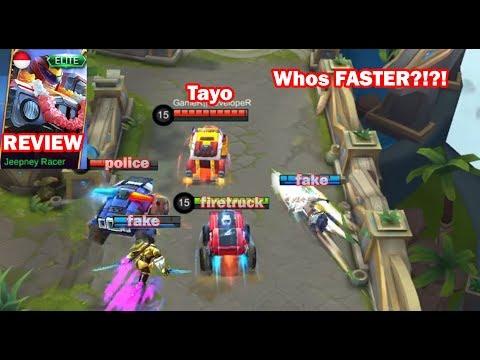 Johnson New Skin vs Epic vs Normal Skin + Gameplay Jeepney Racer Mobile Legends