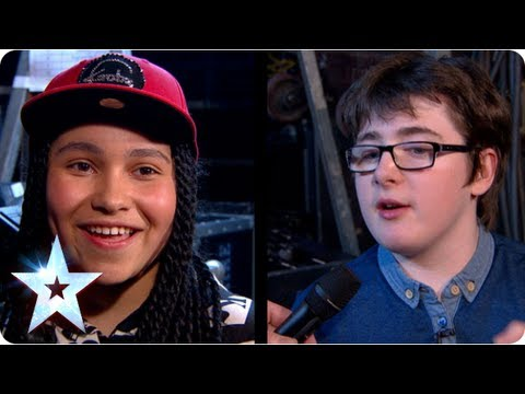 Dad-off! Stephen meets the second pair of finalists | Semi-Final 2 | Britain's Got More Talent 2013