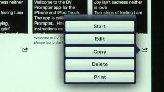 DV Prompter App