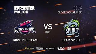 Winstrike vs Team Spirit, EPICENTER Major 2019 CIS Closed Quals , bo1 [Smile & Adekvat]