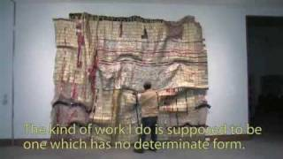 Installing El Anatsui's Duvor at the IMA
