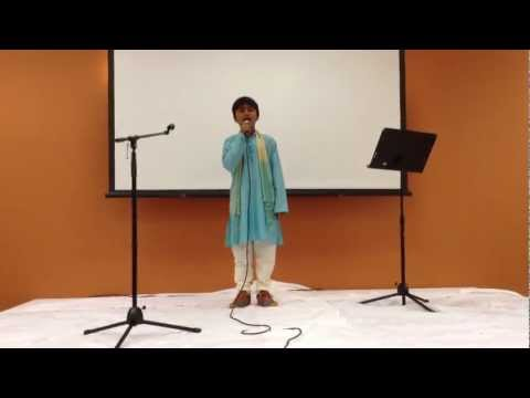mihir - Mihir sings Madhuban Main Radhika nache Re in raag Hamir at ICC Kids Karaoke Contest 3/17/2013, celebrating ICC's 10th Anniversary.