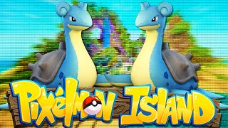 Minecraft: PIXELMON ISLAND SMP - Episode 9: WE CAUGHT A SHINY! (Pokemon Mod)