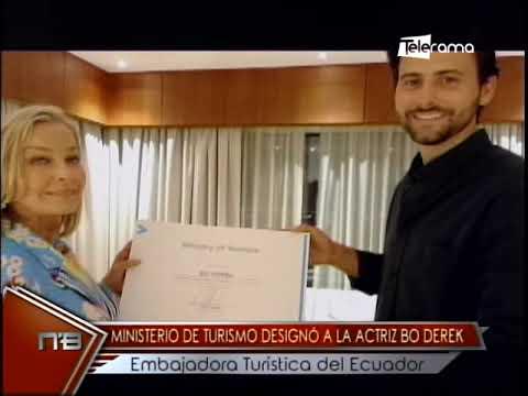 Ministerio  de turismo designó a la actriz Bo Derek embajadora turística del Ecuador