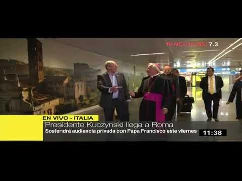 Kuczynski llegó a Roma para reunirse con el papa Francisco (video)