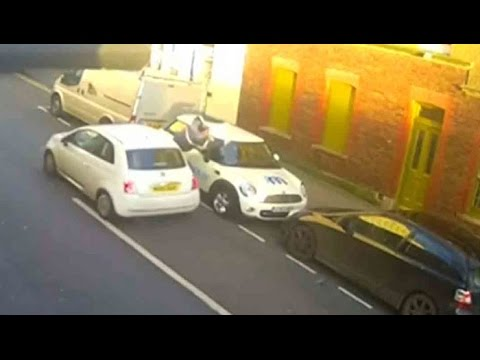 A pedestrian thrown into the air has survived a dramatic hit-and-run in Brighton on England's south coast.