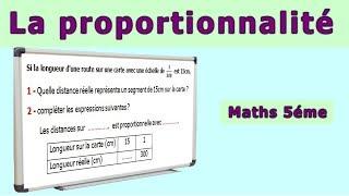 Maths 5ème - La proportionnalité Echelle Exercice 2
