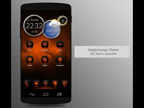 Video of NextLauncher Theme MagicOrange