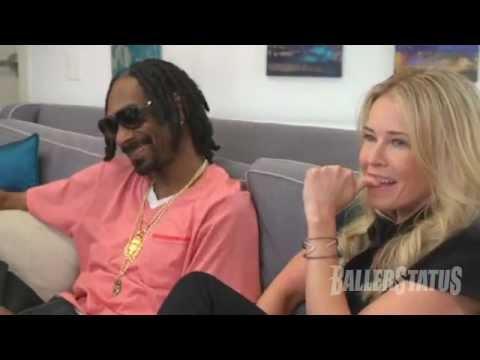 Funny! Chelsea Handler smokes weed with Snoop Dogg, snacks on dog food.