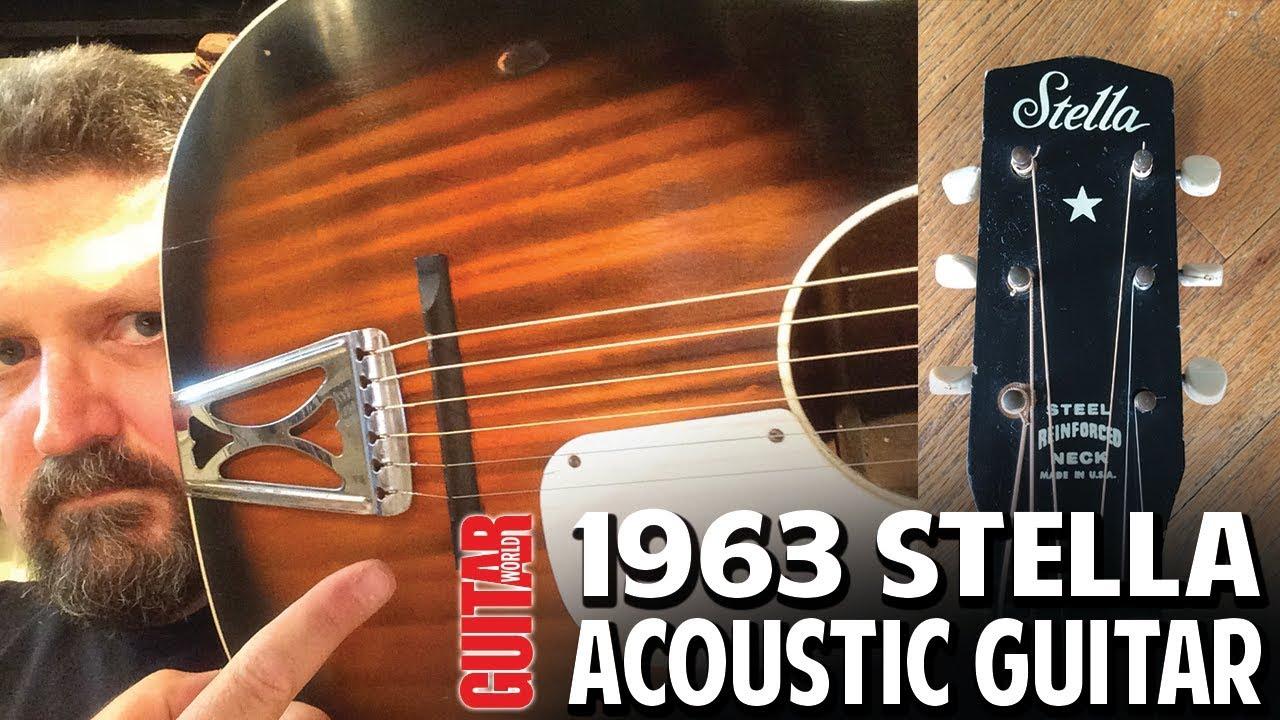 DEMO:  1963 Stella H929 Acoustic Guitar by Harmony – A slide blues machine!