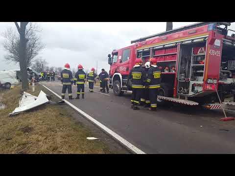 Wideo1: Wypadek na trasie Borek Wielkopolski - Dolsk przed Koszkowem