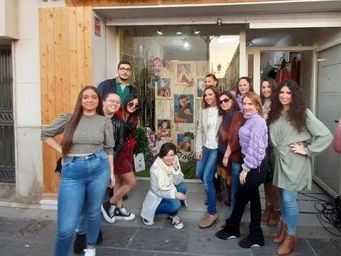 Inauguración del Escaparate dedicado a la Corte Juvenil Carnaval de Isla Cristina 2020