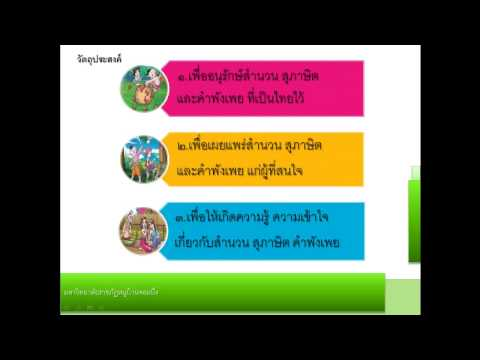 โครงงานภาษาไทย  เรื่อง สำนวน สุภาษิต และคำพังเพย