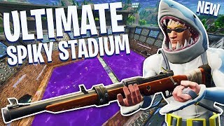 ULTIMATE SPIKY STADIUM on LOOT LAKE!! - Fortnite Battle Royale!