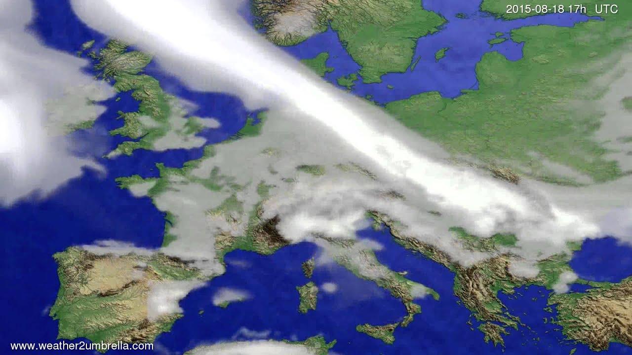 Cloud forecast Europe 2015-08-15