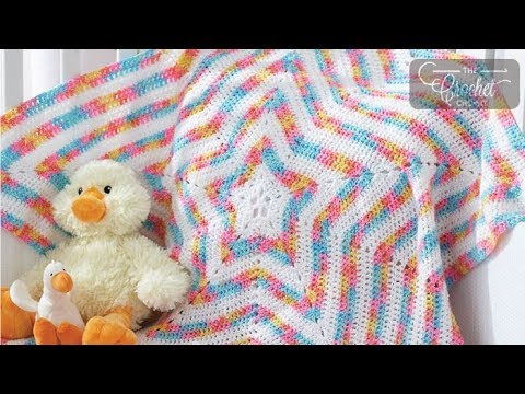 tutorial crochet - how to learn to do a baby star blanket