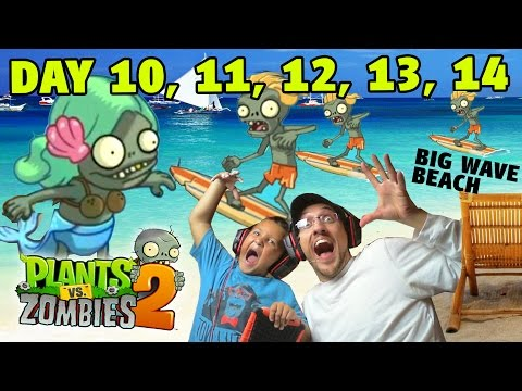 Beach - Thumbs up for Big Wave Beach! Mike & Dad breeze through 5 days in Big Wave Beach! Next up is Day 15, Protect the Potato Mines! NOOO!!! That's going to be tough! Days 1 & 2!: http://youtu.be/0U9v...