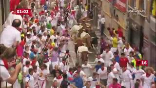 Pamplona Spain  city photo : SPAIN BULL RUN 2016 DAY 4 PAMPLONA