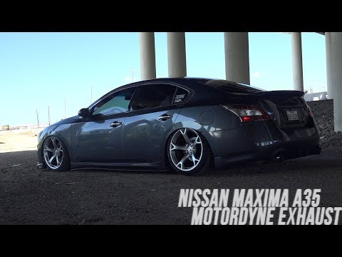 Nissan Maxima A35 Exhaust || Motordyne Exhaust (Start Up,Revs & Fly By)