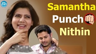 Samantha Punch To Nithin || Trivikram || Nadhiya || #Aaamovie