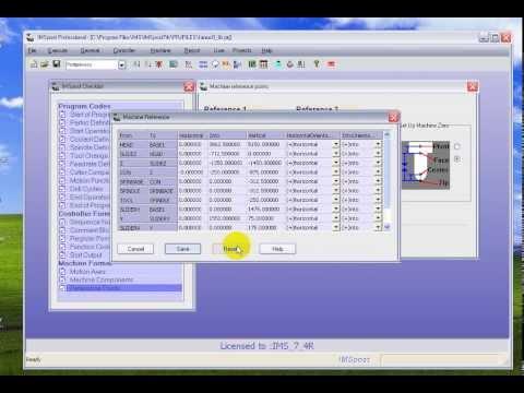 Imspost v7.4R software : Builder postprocessor for machining CNC
