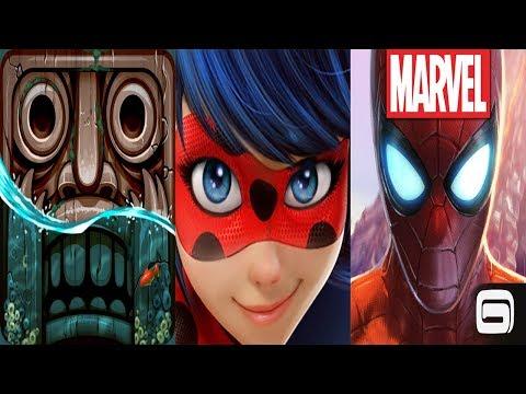 Temple Run 2 Lost Jungle VS Miraculous Ladybug & Cat Noir VS Spider Man Unlimited