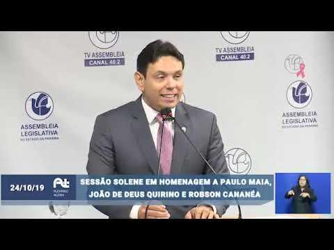 Concess�o de T�tulo de Cidad�o Paraibano ao vice-presidente da OAB-PB, Jo�o de Deus