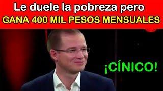 Ricardo Anaya GANA 400 MIL PESOS MENSUALES Y ES DESMENTIDO EN MILENIO NOTICIAS