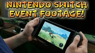 NINTENDO SWITCH EVENT FOOTAGE! (Zelda Breath of the Wild on Handheld, ARMS, & More!)