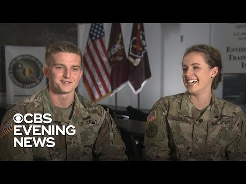 Military couple's emotional reunion after months apart caught on camera