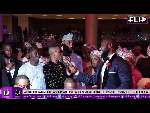Download WIZKID SHOWS PASSION AND POP APPEAL AT WEDDING OF DANGOTE'S DAUGHTER IN LAGOS