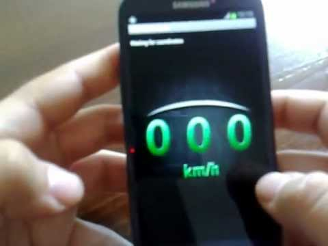 Video of GPS Speedometer: white version