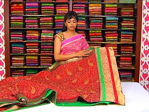 Different Collection of Fancy Designer Sarees | Sogasu Chuda Tarama | Vanitha TV 26 July 2015 11 47 AM