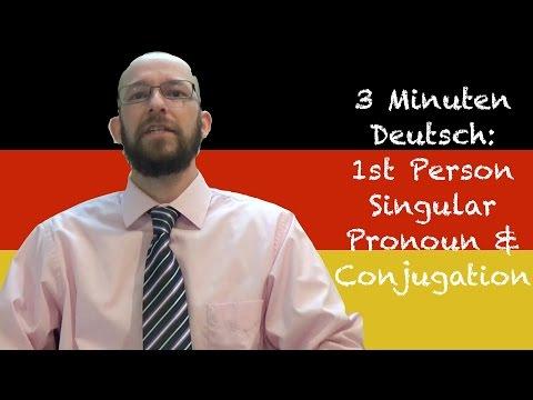 Ich & Conjugation - 3 Minuten Deutsch Lesson #1 - Deutsch lernen