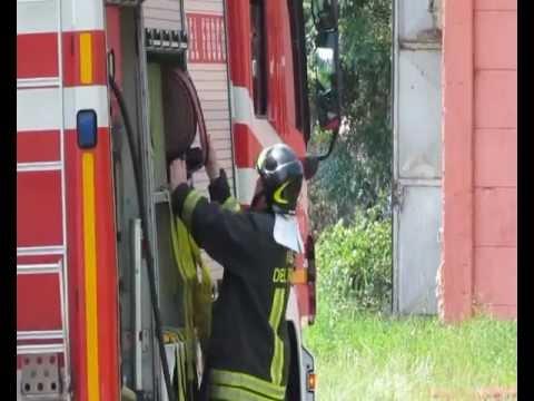 Incendio ditta Cocquio Trevisago