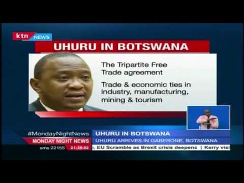 President Uhuru Kenyatta has arrived in Gaborone, Bostwana for a state visit