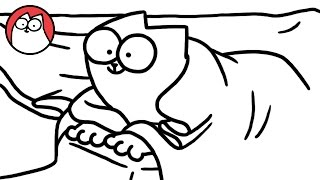 Download Youtube: Bed Sheets - Simon's Cat | B&W