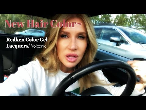 New Hair Color Covers Grey  Redken Gel Lacquers Volcanic