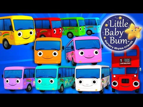 Ten Little Buses | Part 3 | Nursery Rhymes | By LittleBabyBum! | ABCs and 123s
