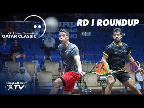 Squash: Round 1 Roundup - Qatar Classic 2018