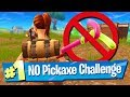 Fortnite NO Pickaxe / Harvesting Challenge!