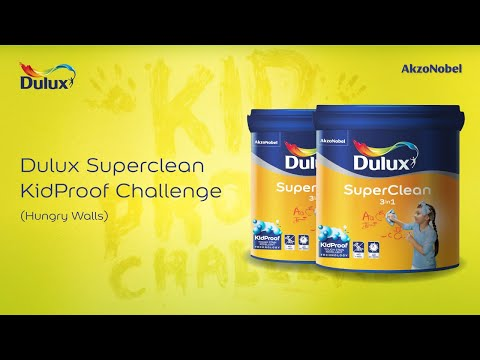 Dulux Superclean Kidproof Challenge Hungry Walls