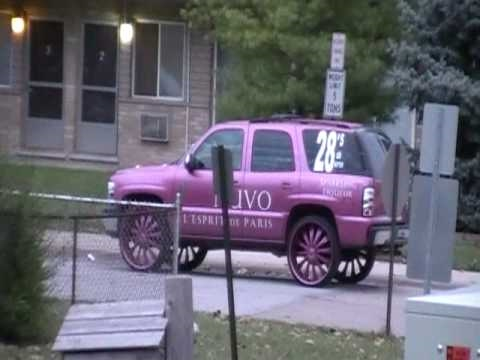 Pink Chevy Tahoe on 28's Bentchi B15's