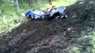 5. Filping over handle bars on a polaris 800